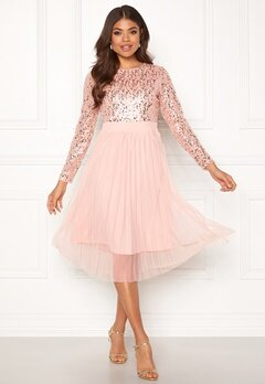 Happy Holly Mandy dress Dusty pink Bubbleroom.fi