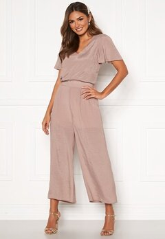 Happy Holly Mandy wide pants Dusty pink Bubbleroom.fi