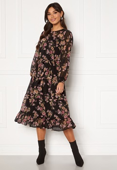 Happy Holly Marcella dress Black / Patterned Bubbleroom.fi