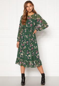 Happy Holly Marcella dress Green / Patterned Bubbleroom.fi