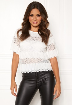 Happy Holly Maria lace top White Bubbleroom.fi