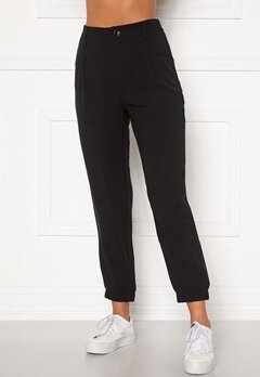 Happy Holly Maria woven pants Black Bubbleroom.fi