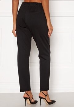 Happy Holly Mathilda high waist tricot pants Black Bubbleroom.fi
