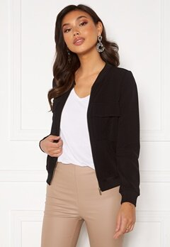 Happy Holly Maya pocket jacket Black Bubbleroom.fi