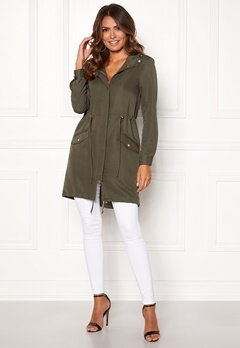 Happy Holly Meg parka Khaki green Bubbleroom.fi
