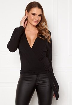 Happy Holly Megan knot top Black Bubbleroom.fi