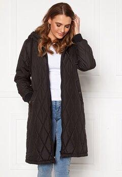 Happy Holly Melanie quilted hood jacket Black Bubbleroom.fi