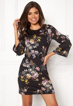 Happy Holly Melinda dress Black / Patterned Bubbleroom.fi