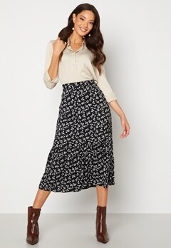 Happy Holly Melony skirt Black / Patterned Bubbleroom.fi