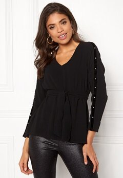 Happy Holly Michaela blouse Black Bubbleroom.fi
