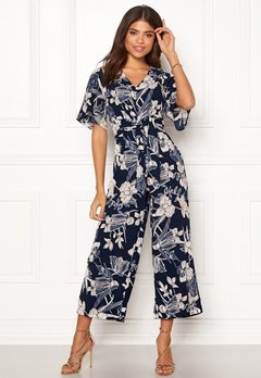 Happy Holly Michelle Jumpsuit Dark blue / Patterned Bubbleroom.fi