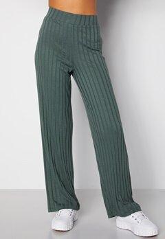 Happy Holly Mila wide pants Green bubbleroom.fi