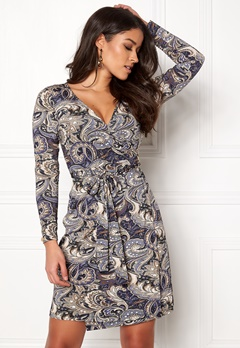 Happy Holly Millie wrap dress Blue / Patterned Bubbleroom.fi