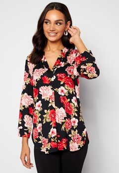 Happy Holly Milly 3/4 sleeve tunic Black / Patterned bubbleroom.fi