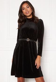 Happy Holly Milly velvet dress Black Bubbleroom.fi