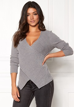 Happy Holly Nala top Dark grey melange Bubbleroom.fi