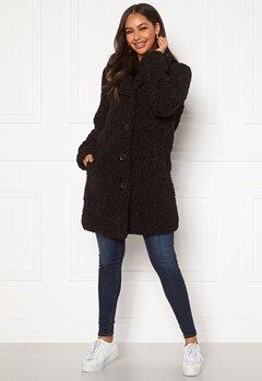 Happy Holly Nicole teddy coat Black Bubbleroom.fi