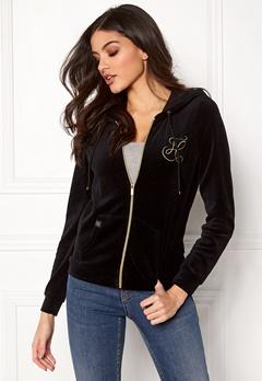 Happy Holly Nicole velour jacket Black Bubbleroom.fi
