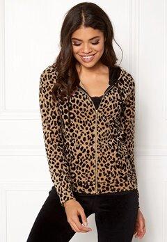 Happy Holly Nicole velour jacket Leopard Bubbleroom.fi