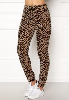 Happy Holly Nicole velour pants Leopard Bubbleroom.fi