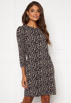 Happy Holly Nora cosy dress Leopard Bubbleroom.fi