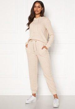 Happy Holly Nora cosy pants Light beige / Melange Bubbleroom.fi