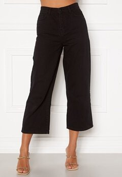 Happy Holly Pamela wide leg culotte jeans Black Bubbleroom.fi