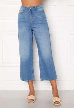Happy Holly Pamela wide leg culotte jeans Medium denim Bubbleroom.fi