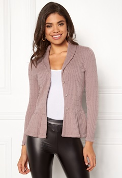 Happy Holly Patricia cable cardigan Dusty pink Bubbleroom.fi