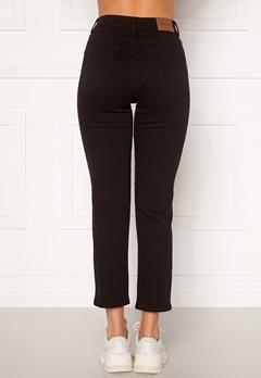 Happy Holly Peggy straight leg jeans Black denim Bubbleroom.fi