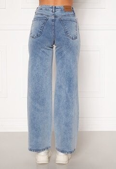 Happy Holly Peggy wide leg jeans Light denim Bubbleroom.fi