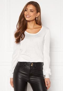 Happy Holly Pembe sweater White Bubbleroom.fi