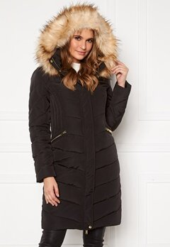 Happy Holly Rachel long jacket Black Bubbleroom.fi