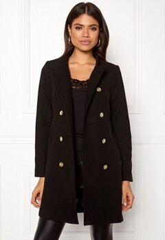 Happy Holly Rebecca coat Black Bubbleroom.fi
