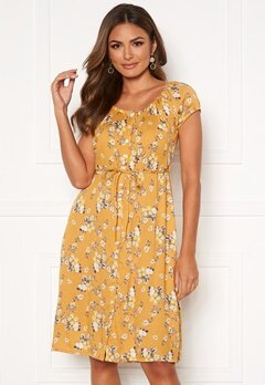Happy Holly Rebecca dress Yellow / Patterned Bubbleroom.fi