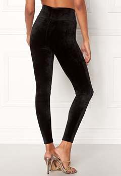 Happy Holly Reese velour pants Black Bubbleroom.fi
