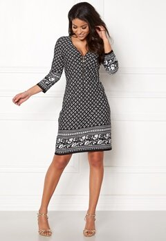 Happy Holly Renata dress Black / Offwhite Bubbleroom.fi