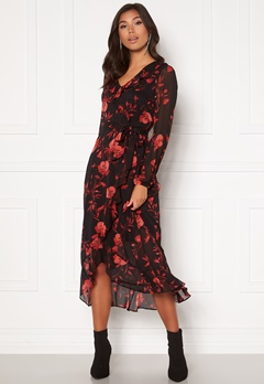 Happy Holly Rianna dress Black / Patterned Bubbleroom.fi