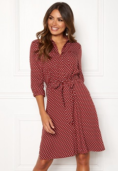 Happy Holly Ronja ls shirt dress Dotted Bubbleroom.fi