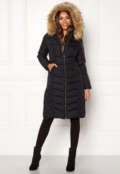 Happy Holly Sadie long jacket Black Bubbleroom.fi