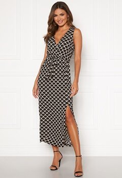 Happy Holly Sam maxi dress Black / Patterned Bubbleroom.fi