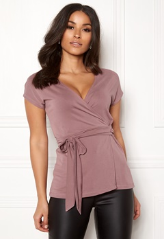 Happy Holly Samantha wrap top Heather pink Bubbleroom.fi