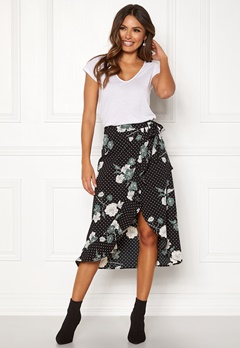 Happy Holly Sandie skirt Black / Patterned Bubbleroom.fi