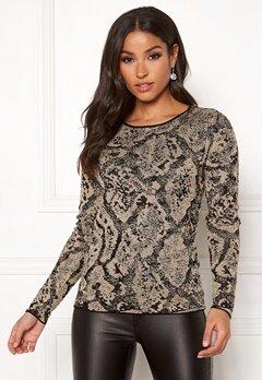 Happy Holly Sandra knitted lurex sweater Animal print Bubbleroom.fi