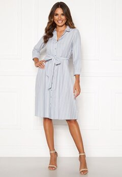 Happy Holly Sanna shirt dress Blue / Striped Bubbleroom.fi