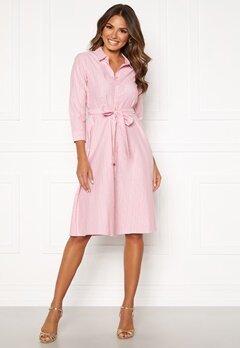 Happy Holly Sanna shirt dress Pink / Striped Bubbleroom.fi