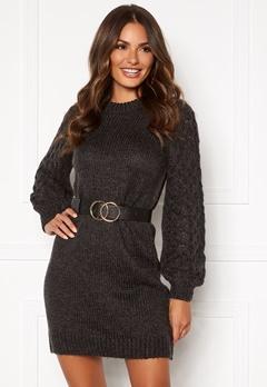 Happy Holly Sara long sweater Dark grey melange Bubbleroom.fi
