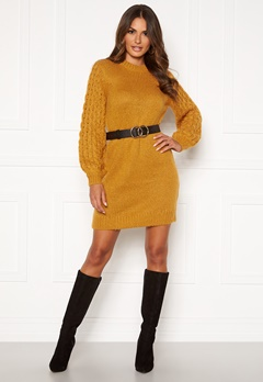 Happy Holly Sara long sweater Dark yellow Bubbleroom.fi