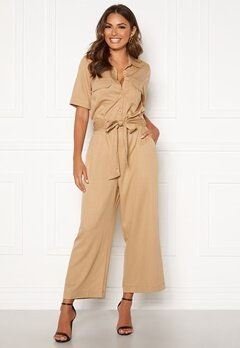 Happy Holly Sarah utility jumpsuit Khaki beige Bubbleroom.fi