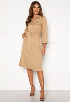 Happy Holly Sarah utility shirt dress Khaki beige Bubbleroom.fi